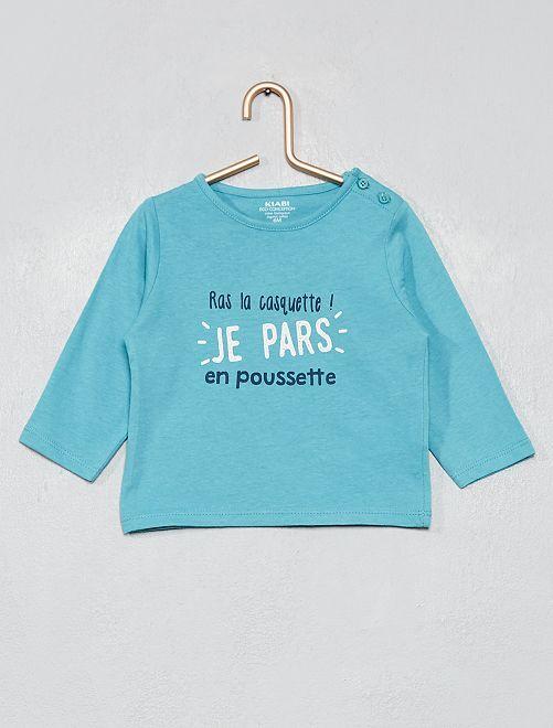 T-shirt 'éco-conçu'                                                                                             bleu/poussette