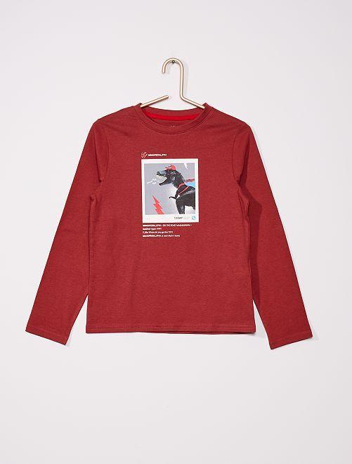 T-shirt éco-conçu                                                                             bordeaux