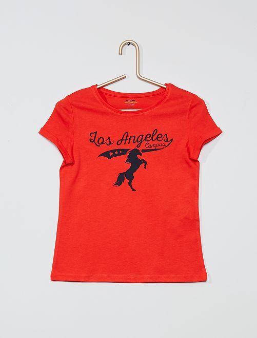 T-shirt éco-conçu 'campus'                                                                                                                 rouge/campus