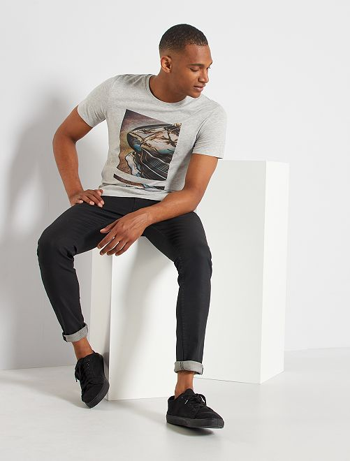 T-shirt éco-conçu 'car'                                                                                                                                                                                                                                         gris car