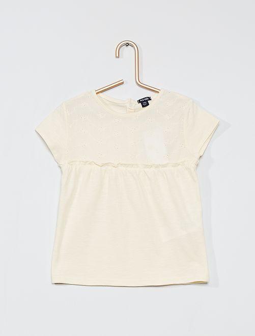 T-shirt 'éco-conçu'                                         crème