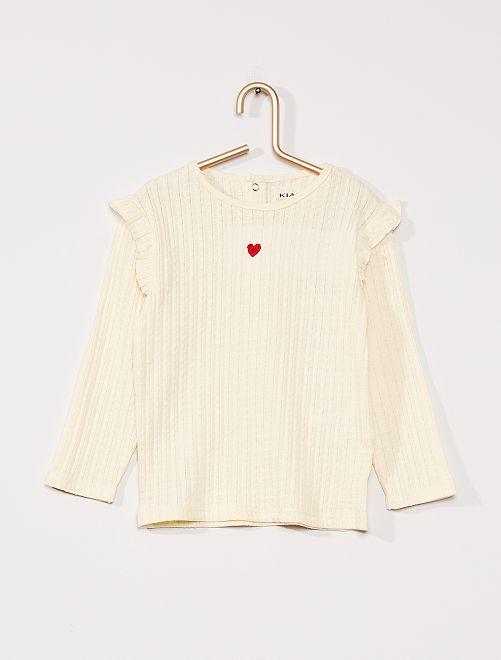 T-shirt éco-conçu                             crème
