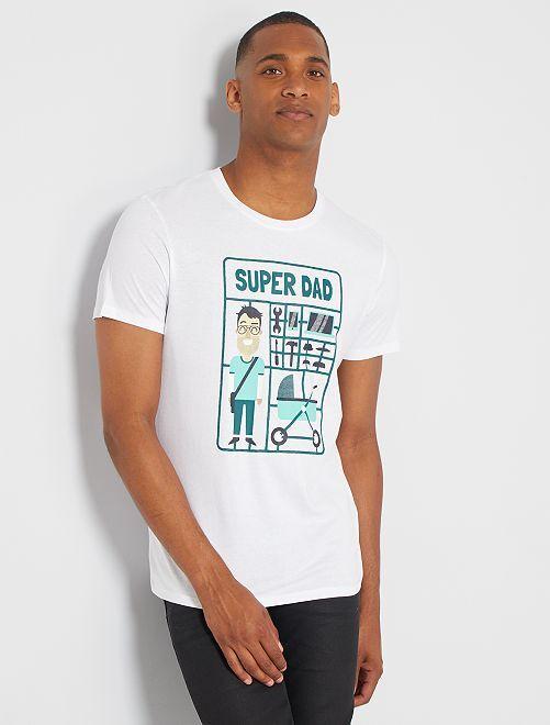 T-shirt éco-conçu 'dad'                                                                                                                                                                                                                                         blanc dad