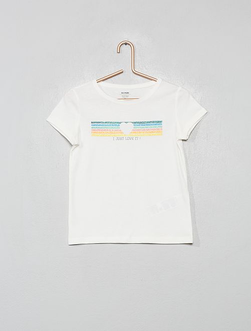 T-shirt éco-conçu                                                                                                                 écru