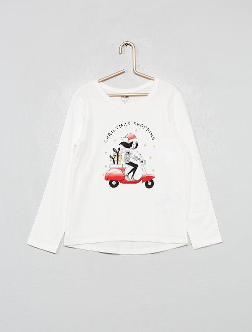 T-shirt éco-conçu                                         écru scooter