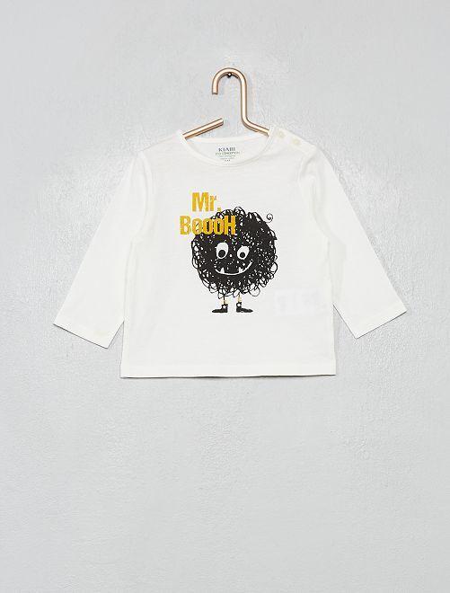 T-shirt 'éco-conçu'                                 écru/citrouille