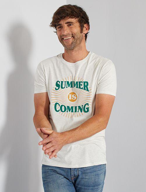 T-shirt éco-conçu                                                                             écru/summer