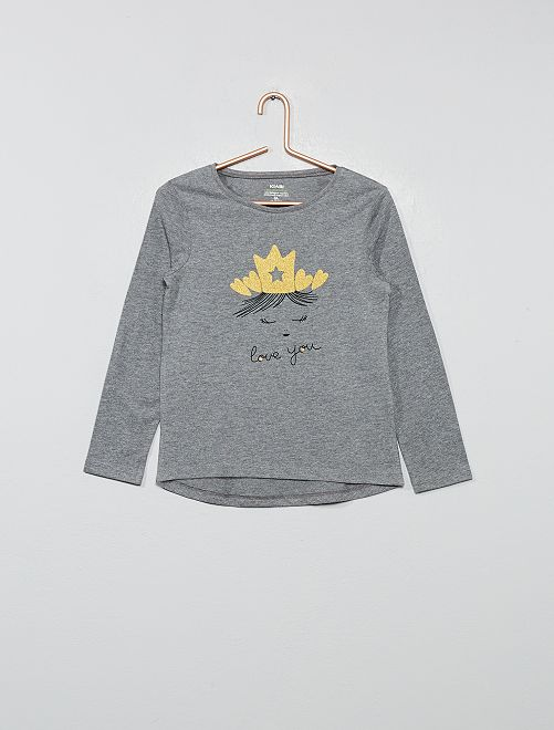 T-shirt éco-conçu                                         gris chiné