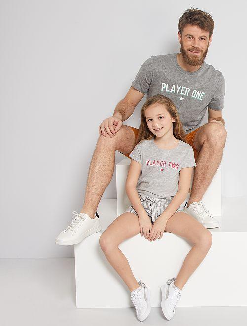 T-shirt éco-conçu                                                                 gris chiné player