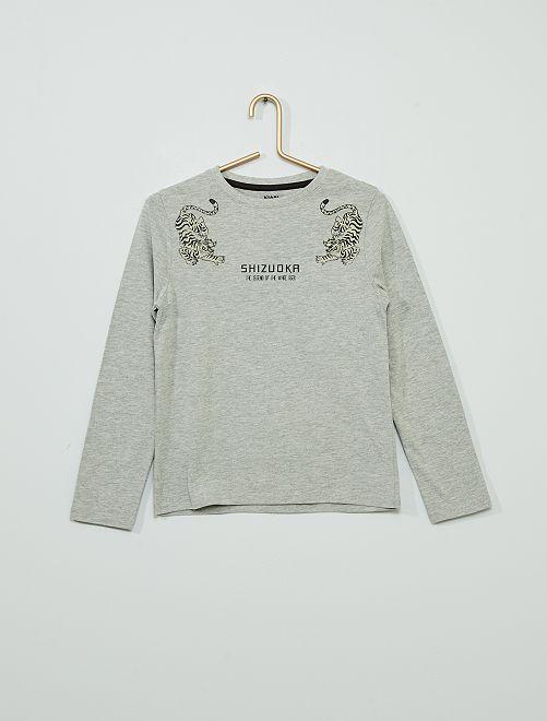 T-shirt éco-conçu                                                                                                                 gris tigre