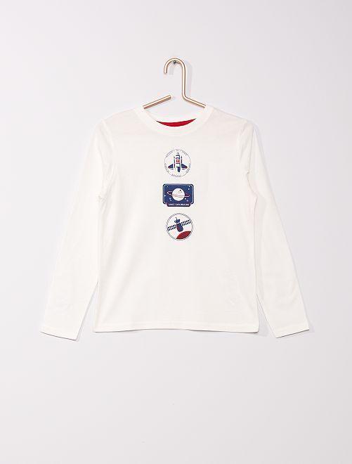 T-shirt éco-conçu imprimé                                                                                                                                                                             BEIGE
