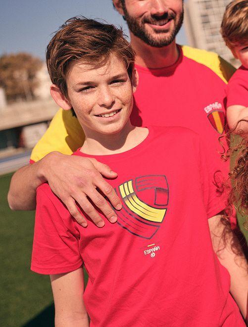T-shirt éco-conçu imprimé foot Espagne                                                                 rouge Espagne