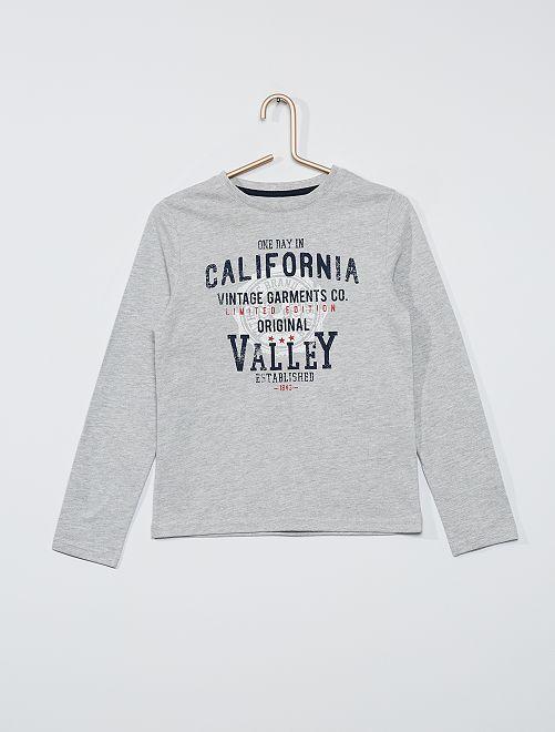 T-shirt éco-conçu imprimé                                                                                                                                                                             gris