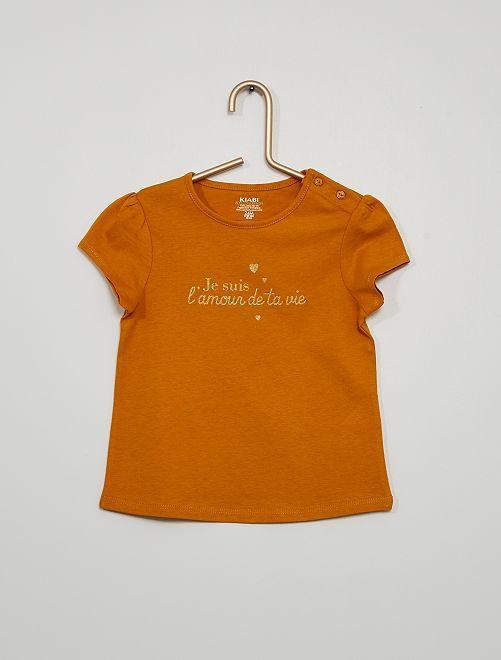 T-shirt éco-conçu imprimé                                                                                         jaune