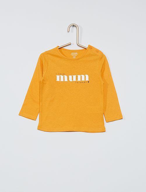 T-shirt éco-conçu imprimé                                                                                                     ocre mum