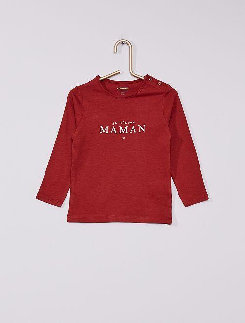 T-shirt éco-conçu imprimé                                                                                                                             rouge