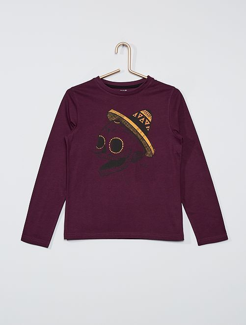 T-shirt éco-conçu imprimé                                                                                                                                                                             violet