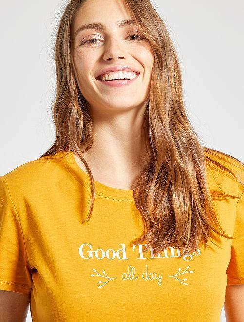 T-shirt éco-conçu                                                                                             jaune moutarde