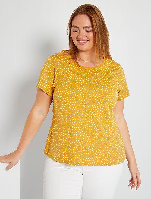 T-shirt éco-conçu                                                                                                                                                                                                                                                                                                                                                                             jaune pois