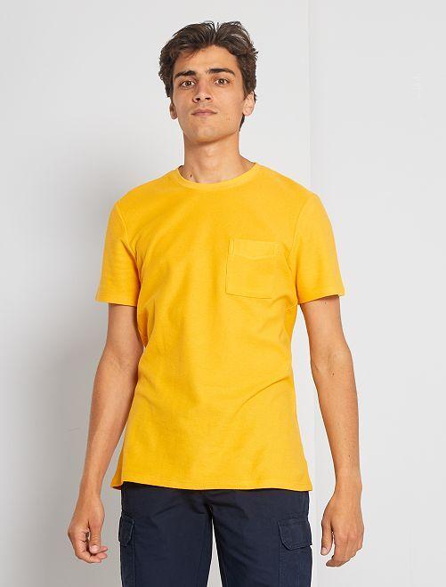 T-shirt éco-conçu                                                                 jaune safran