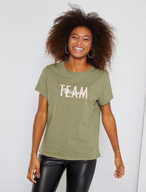 T-shirt éco-conçu                                                                                         kaki