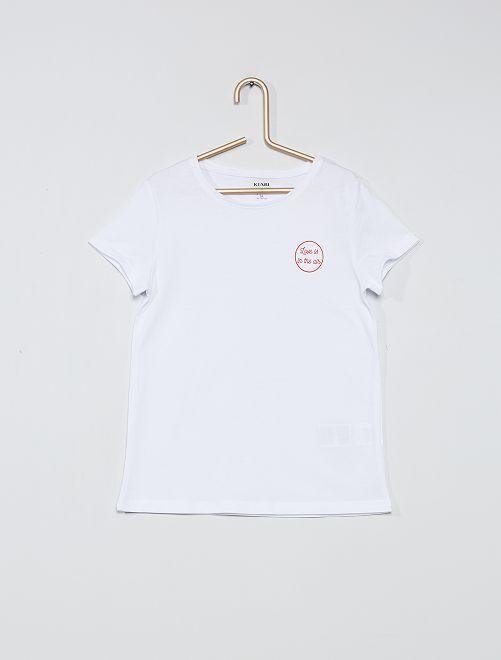T-shirt éco-conçu 'love'                                                                                                                             blanc/love