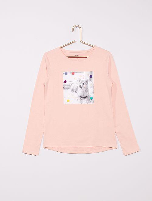 T-shirt éco-conçu ludique                                         ROSE