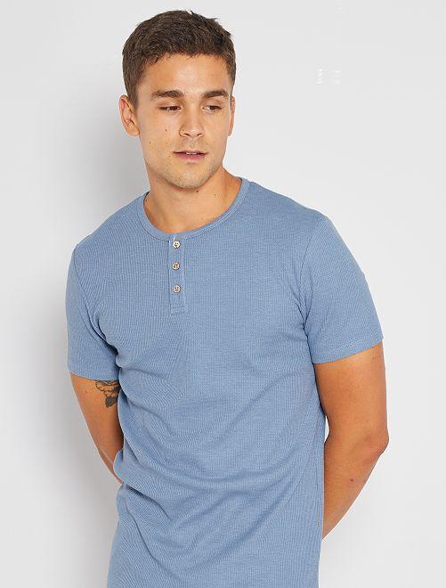T-shirt éco-conçu maille piquée                                                         bleu clair