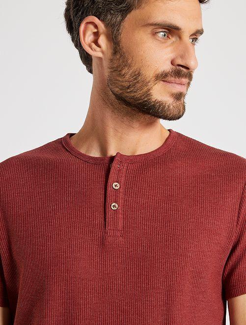 T-shirt éco-conçu maille piquée                                                                                         bordeaux clair