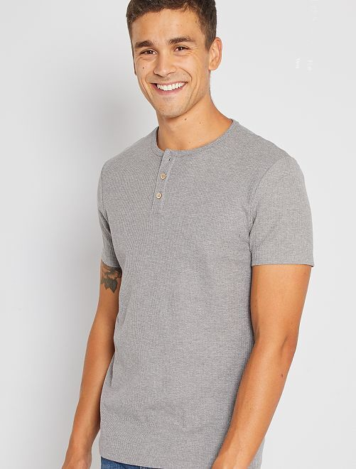 T-shirt éco-conçu maille piquée                                                                             gris