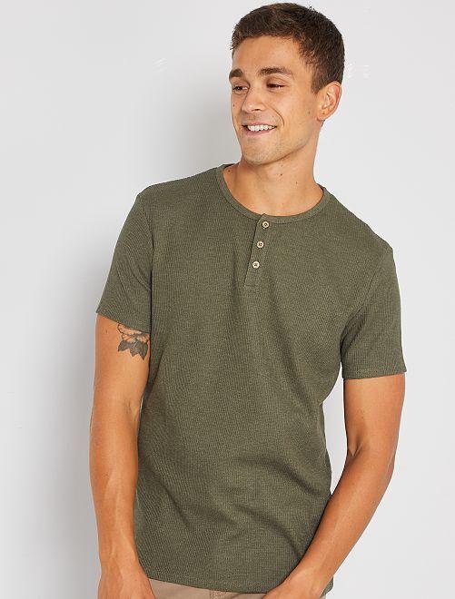 T-shirt éco-conçu maille piquée                                                                                         kaki