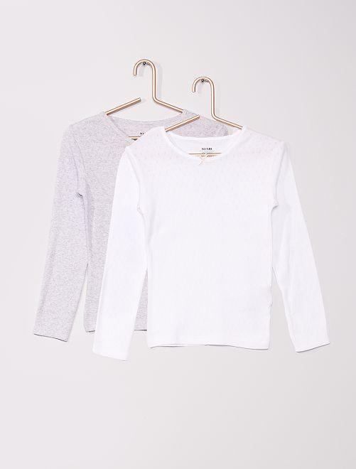 T-shirt éco-conçu maille pointel                             gris