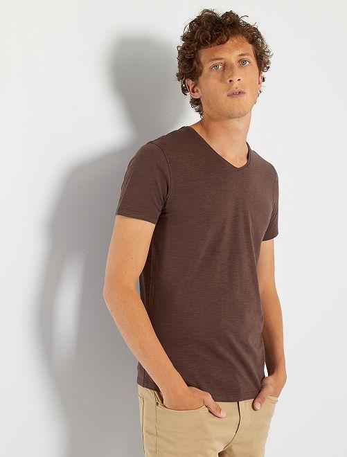 T-shirt éco-conçu                                                                                                                 marron
