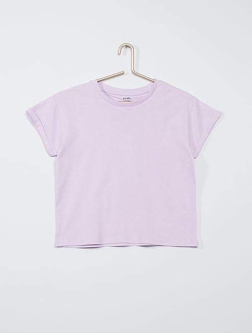 T-shirt éco-conçu                                                                                         mauve clair