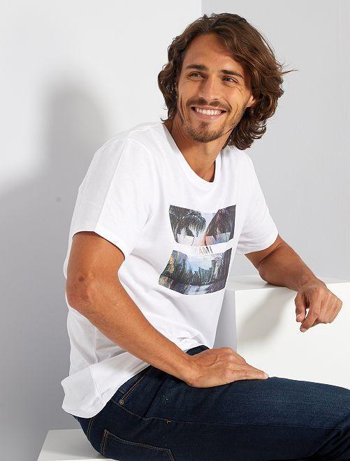 T-shirt éco-conçu 'Miami'                                                                                                                                                                                                                                                                 blanc miami
