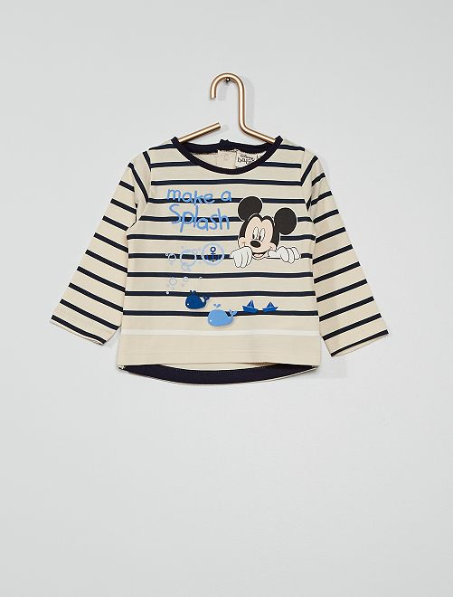 T-shirt éco-conçu 'Mickey'                                         beige
