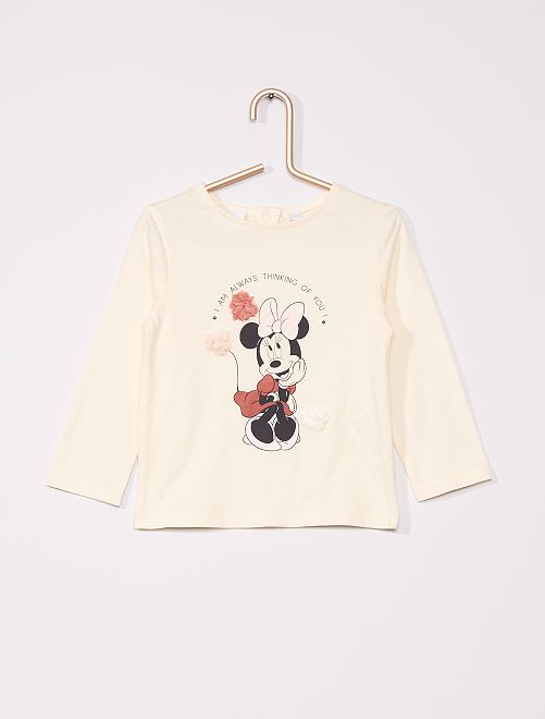 T-shirt éco-conçu 'Minnie' de 'Dinsey'                             BLANC