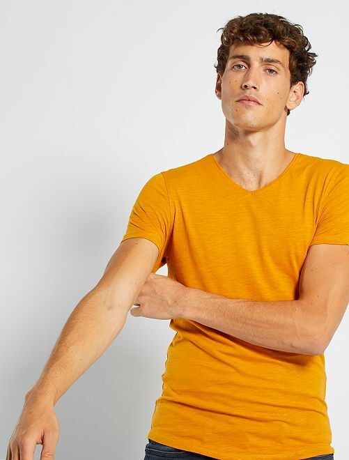 T-shirt éco-conçu                                                                                                                 moutarde
