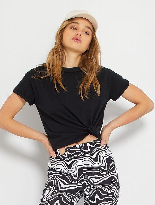 T-shirt éco-conçu                                                                                         noir