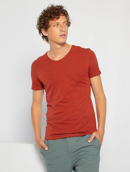 T-shirt éco-conçu                                                                                                                 orange brique