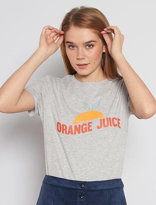 T-shirt éco-conçu 'Orange Juice'                                                                                                                                                                                                                                                                             gris 'orange juice'