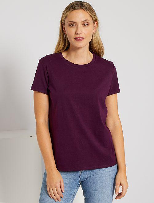 T-shirt éco-conçu                                                                                                                                                                             prune