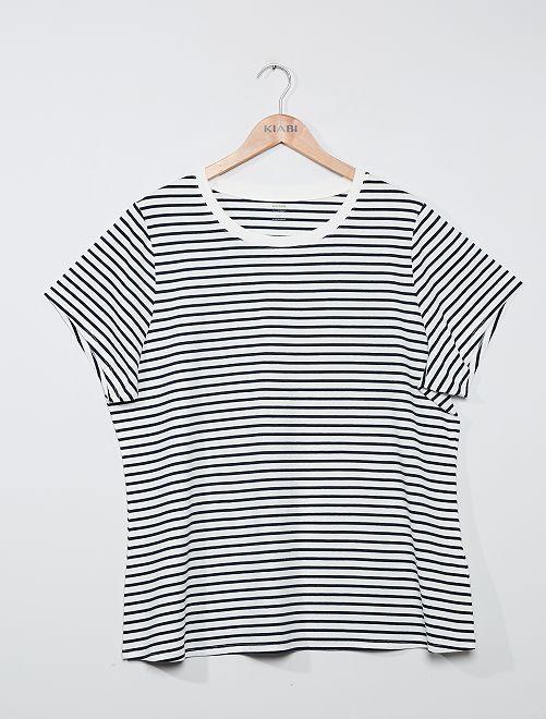 T-shirt éco-conçu                                                                                                                                                                 rayé
