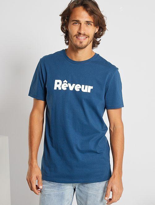 T-shirt éco-conçu 'Rêveur'                                                                                                                 bleu rêveur
