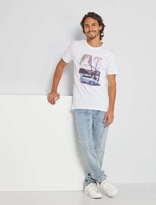 T-shirt éco-conçu 'BBQ'                                 blanc car