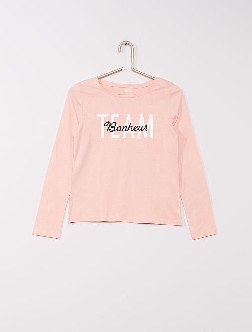 T-shirt éco-conçu                                                                                                                                         rose clair