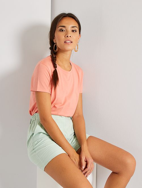 T-shirt éco-conçu                                                                                                                                                                             rose corail