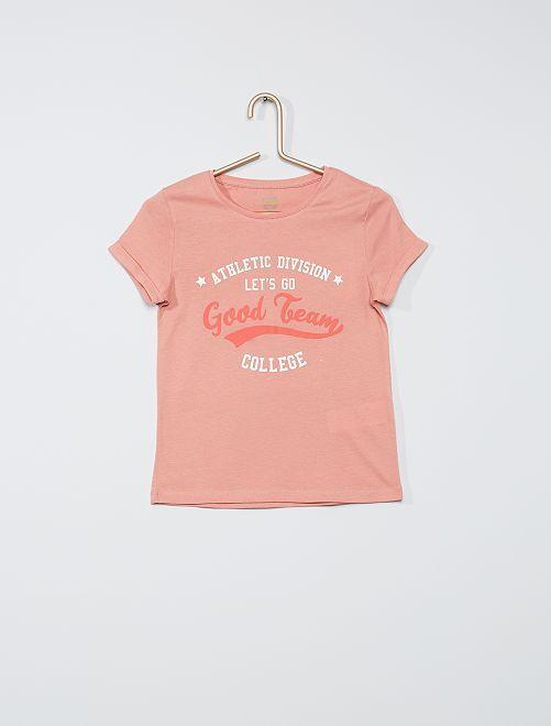 T-shirt 'éco-conçu'                                         rose