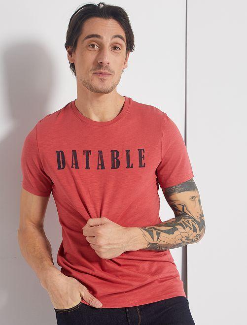 T-shirt éco-conçu                                                                                                                             rose foncé