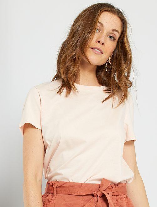 T-shirt éco-conçu                                                                                                                                                                                         rose pâle